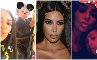 Kim Kardashian y sus hijos North y Saint West