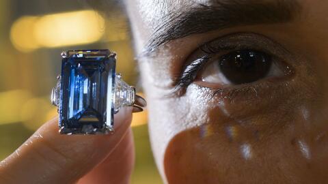 El raro diamante azul pertenecía al dueño de una empresa minera
