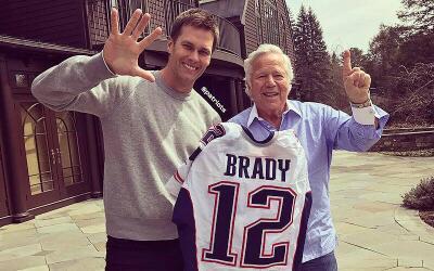 El video fue compartido en las redes sociales de los New England Patriots.