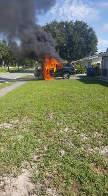 Galaxy Note 7 estalla y prende en fuego el auto de una familia de Florid...