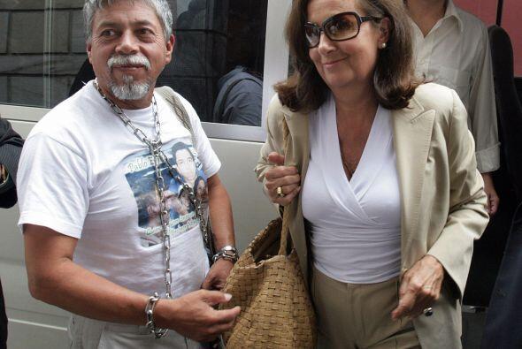 La señora Yolanda Pulecio, madre de Ingrid Betancourt, que también estuv...