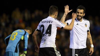 Negredo y Cheryshev marcaron los goles del Valencia