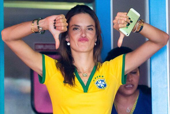 Muy tristes salieron las bellas modelos brasileras después de ver el res...