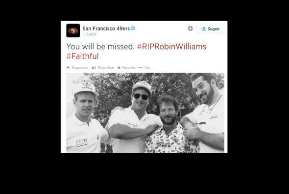 Los 49 de San Francisco, recordaron a Robin Williams.