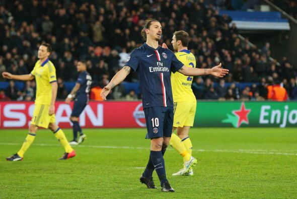 Zlatan realizó una estupenda jugada que no pudo concretar.
