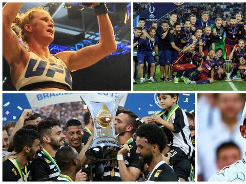 Los Campeones que conquistaron la gloria en 2015.