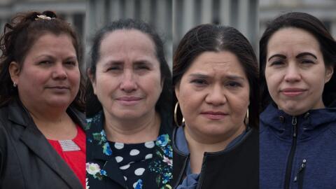 María Carballo, María Fuentes, Vicenta Funetes y Mar&iacut...