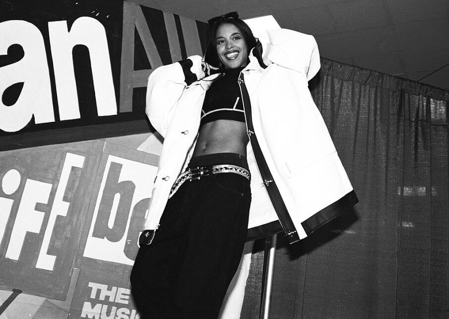 Singer Aaliyah Houghton poses for a photo at Madison Square Garden at th...
