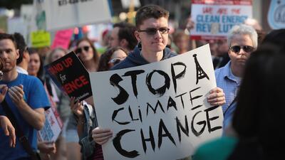Una protesta contra el cambio climático en Chicago, en junio de 2017.