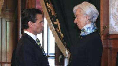 Enrique Peña Nieto recibió en su residencia oficial a Christine Lagarde.