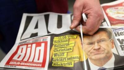 Christian Wulff acaparó las portadas de los diarios.