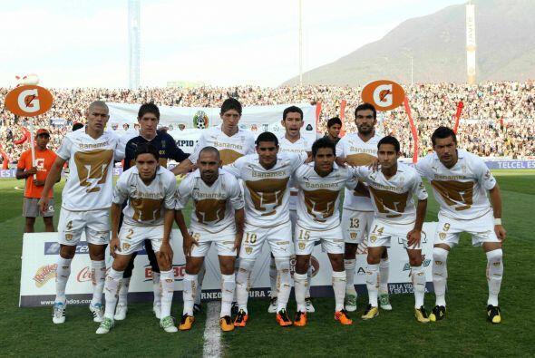 La quinta mejor marca le pertenece a los Pumas de la UNAM del torneo Cla...