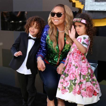 Mariah Carey, junto a sus hijos