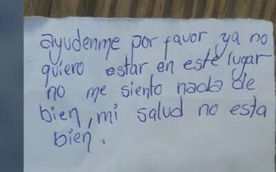 Inmigrante salvadoreña escribe una carta para denunciar que su salud ha...