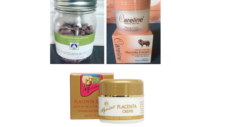 También se venden cremas de placenta que prometen rejuvenecer la piel, p...