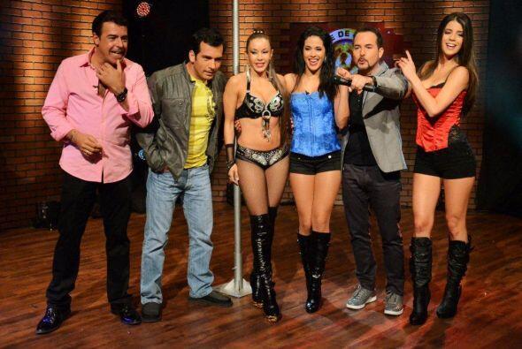 El público animó a Mi Vida y Mi Amor a aprender un poco de 'table dance'.