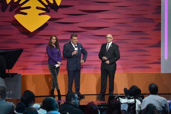 Lucero, Don Francisco y Alberto Ciurana, Presidente de Programación y Co...