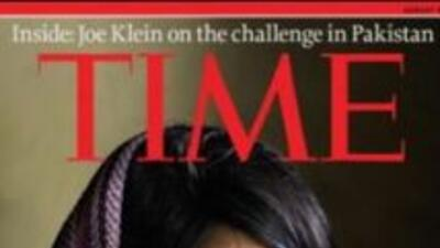 Así se mostraba Aesha Mohammadzai en la portada de la revista Time.