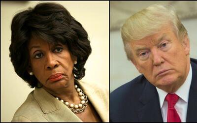Maxine Waters y Donald Trump.