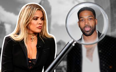 Khloé Kardashian espía a Tristan Thompson.