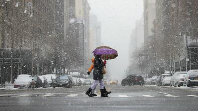 Lunes de alerta por condiciones invernales en plena primavera en Nueva York