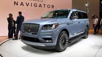 La totalmente nueva Lincoln Navigator 2018 debutó en el Auto Show de Nue...