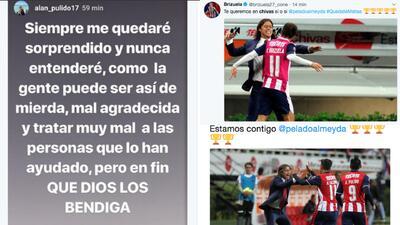 Reacciones de jugadores a la posible salida de Matías Almeyda de Chivas de Guadalajara