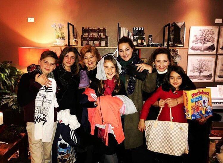 Eugenia Cauduro y sus hijos