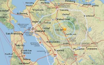 En la zona de Danville, en el norte de California, se han registrado m&a...