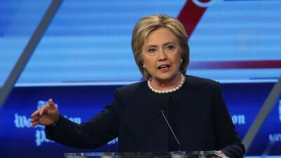 hillary clinton débate demócrata