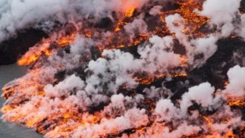 Impresionantes imágenes del río de lava y hielo del volcán Bardarbunga