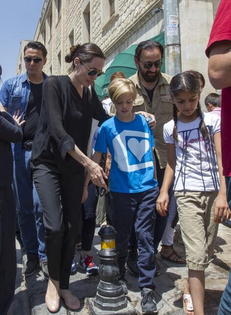 Angelina y Shiloh en Turquia