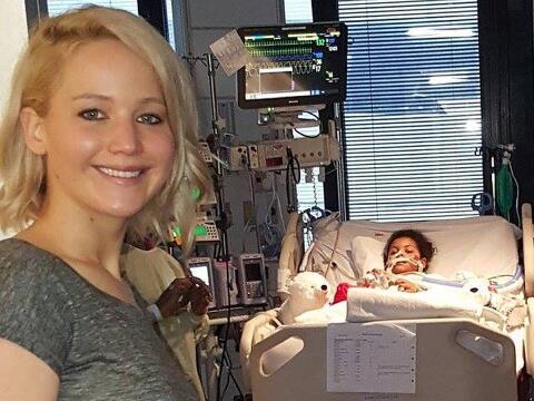 La visita de la actriz al hospital infantil.