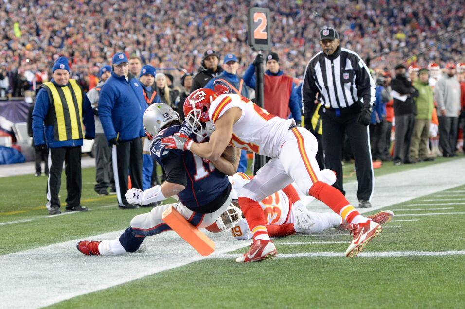 Las mejores imágenes del Chiefs - Patriots Playoff Divisional AFC