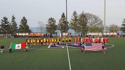 Selección mexicana femenil Sub 20 tuvo un partido amistoso con el equipo femenil de la Universidad Northwestern