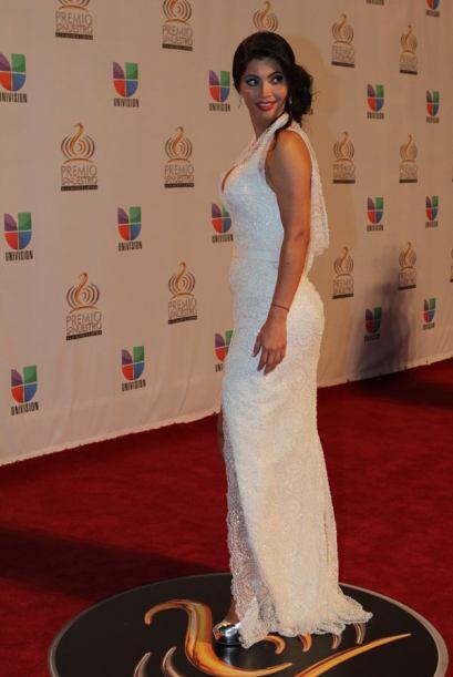Chiquinquirá Delgado se sacó un diez por su vestimenta.