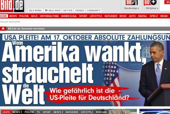 """Respecto del cierre del gobierno, el diario alemán """"Bild"""" titula su nota..."""