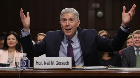 Gorsuch completará los nueve magistrados de la Corte Suprema de J...