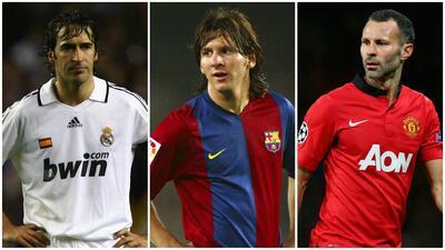 Raúl, Messi y Giggs encabezan el club de los 100 históricos de la Champions League