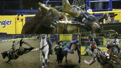 La rudeza e intesidad de los Nacionales de Rodeo en Las Vegas