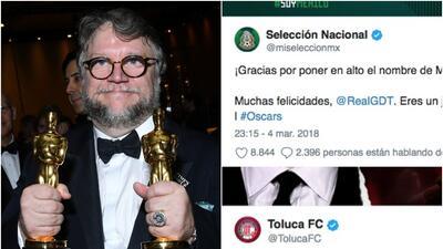 El fútbol mexicano se volcó a felicitar a Guillermo del Toro por su triunfo en los Premios Oscar