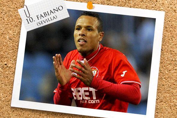 Otro 'hat-trick' fue conseguido por Luis Fabiano, el brasileño del Sevil...