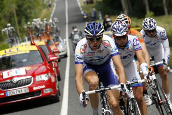 El séptimo episodio del Tour de Francia también se caracterizó por las m...
