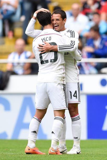 Fue el octavo gol del Madrid en una tarde soñada para el Chicharito e hi...