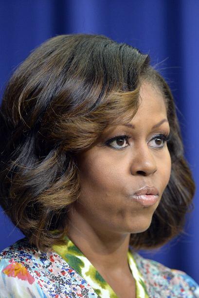 Michelle Obama sorprendió a todos con esas luces color miel que se puso...