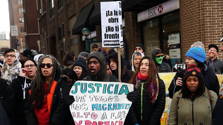 Protestas por deportaciones en NY