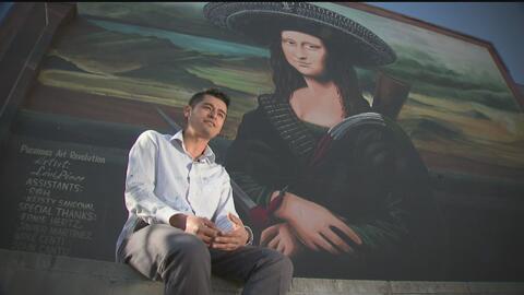Levi Ponce, muralista y orgullo hispano