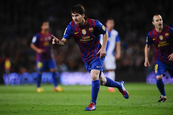 'La Pulga' puso el 1 a 0 y festejó otro gol para su exitosa carrera.