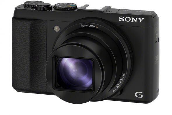 Una cámara ultrafina con súperzoom.  Sony Cyber-shot DSC-HX50V, $450  A...