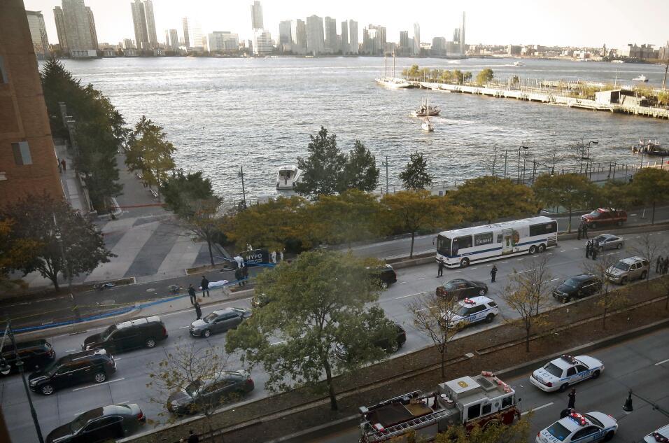 Una vista panorámica de la zona de la ciudad donde ocurrió el incidente.